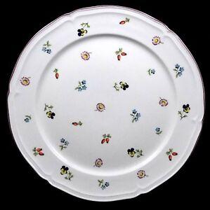 Villeroy-and-Boch-Petite-Fleur-Chop-Plate-Miniature-Flowers-China-Round-Platter