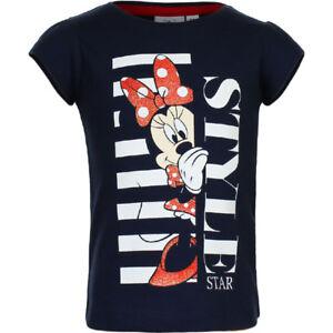 DISNEY-t-shirt-MINNIE-3-4-6-ou-8-ans-marine-manches-courtes-NEUF