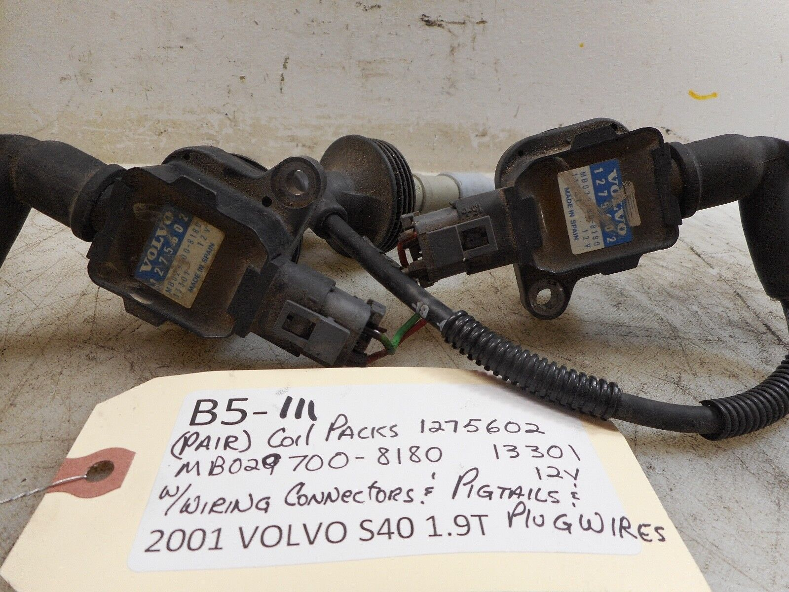 00 04 Volvo S40 V40 Ignition Coil 19 Litre With Ht Wires Ebay Wiring A Plug In Spain Norton Secured Powered By Verisign