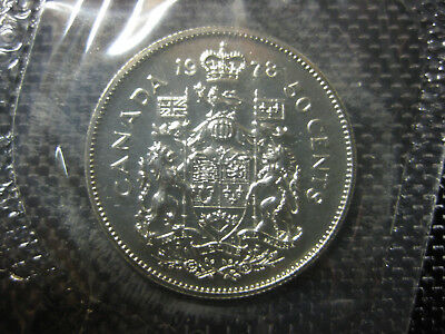 Fifty Cent $0.50 1978 Canadian Prooflike 50 Cent