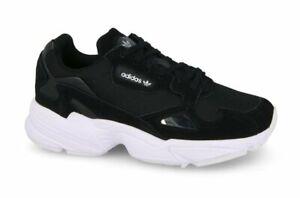 Details zu adidas Originals Schuhe Turnschuhe Damen Sneaker Falcon W Sportschuhe Schwarz