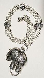 Sparkly-Elephant-Lanyard-Silver-Chain-Badge-ID-Holder-Breakaway-Option