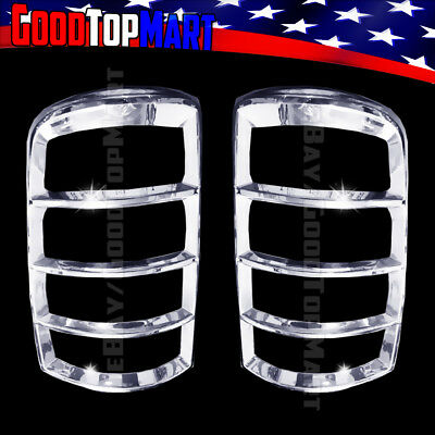 FOR 07-14 CHEVY TAHOE HEADLIGHT+TAILLIGHT CHROME COVERS ABS