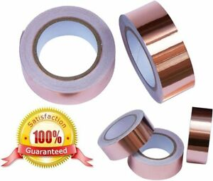Adhesive-COPPER-FOIL-TAPE-Slug-Snail-Pest-REPELLER-DIY-CRAFTS-GUITAR-NEW