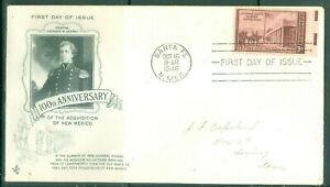US-FDC-944100th-ANNIV-TOOK-NEW-MEXICO-CANCL-OCT-16-1946-SANTA-FE-N-MEX-ADDR