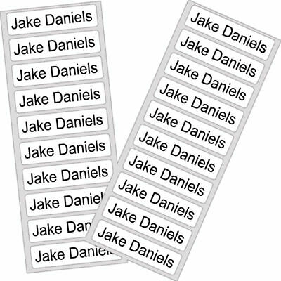 Personalised Iron on School Uniform Labels Name Tags Care Home Waterproof Label