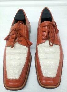 636e5223df227 Giorgio Brutini Men's Shoes Leather Orange/White Alligator Size 7.5 ...