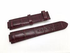 Brand New Cartier Burgundy Leather Band Strap for Balon Bleu model