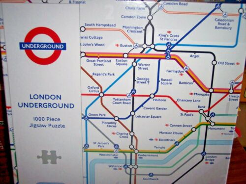 NEW! *LONDON UNDERGROUND MAP* GIBSONS 1000 PIECES JIGSAW PUZZLE