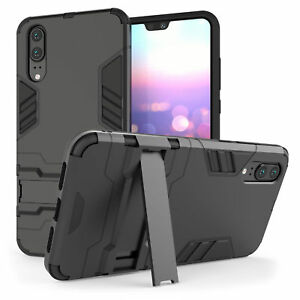 new concept e733e fe300 Details about Huawei P20 / P20 Pro Case, Heavy Duty Armour Shockproof Stand  Full Phone Cover