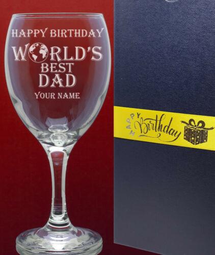 Birthday Wine Glass Personalised /& Engraved-World/'s Best Any Name-Mum//Dad etc