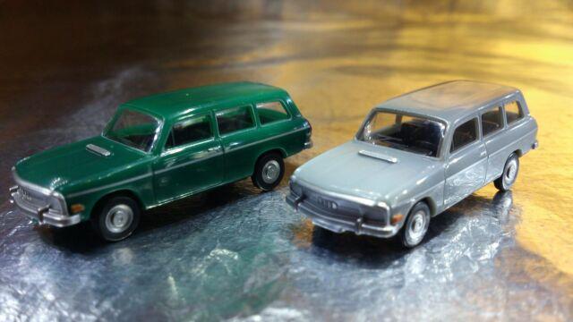** Herpa 451581 Audi 60 Avant 2 Car Pack 1 x Green & 1 x Grey 1:87 HO Scale