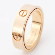 Auth Cartier 18k Rose Gold Mini Love Ring #47