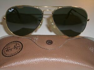 92f53a34c59 58-14mm VINTAGE B L RAY BAN ARISTA GOLD PLATED TEAR DROP G15 AVIATOR ...