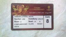BAYERN Munich Germany INTER Milan Italy 2010 Champions League FINAL ticket RARE