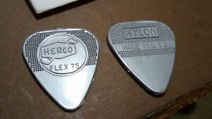 3x Herco Plettro Original Vintage /'75 Silver EH221 Holy Grail Gilmour Flex NYLON