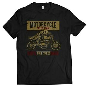 Biker-Maglietta-T-SHIRT-UOMO-SPEED-RACER-MOTO-BICI-CAFE-RACER-CACCIAVITI-s-5xl