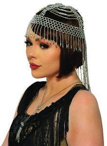 Roaring 20s Beaded Flapper Desert Princess Headpiece Halloween Costume Accessory