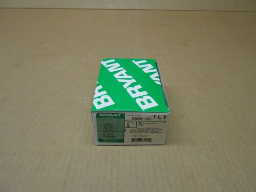 1 NIB BRYANT HUBBELL 2828-GS 2828GS SINGLE RECEPTACLE 2P 3W 15A 125V GROUNDING