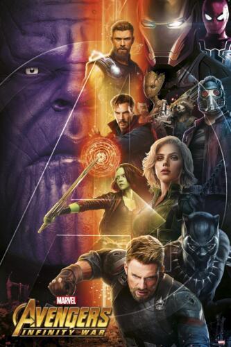 Avengers Infinity War Poster Charaktere - Thanos Captain America 61 x 91,5cm NEU
