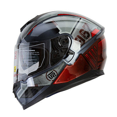 Motorcycle Helmet DOT Mercenary High Performance Dual Visor, Full Face, Street