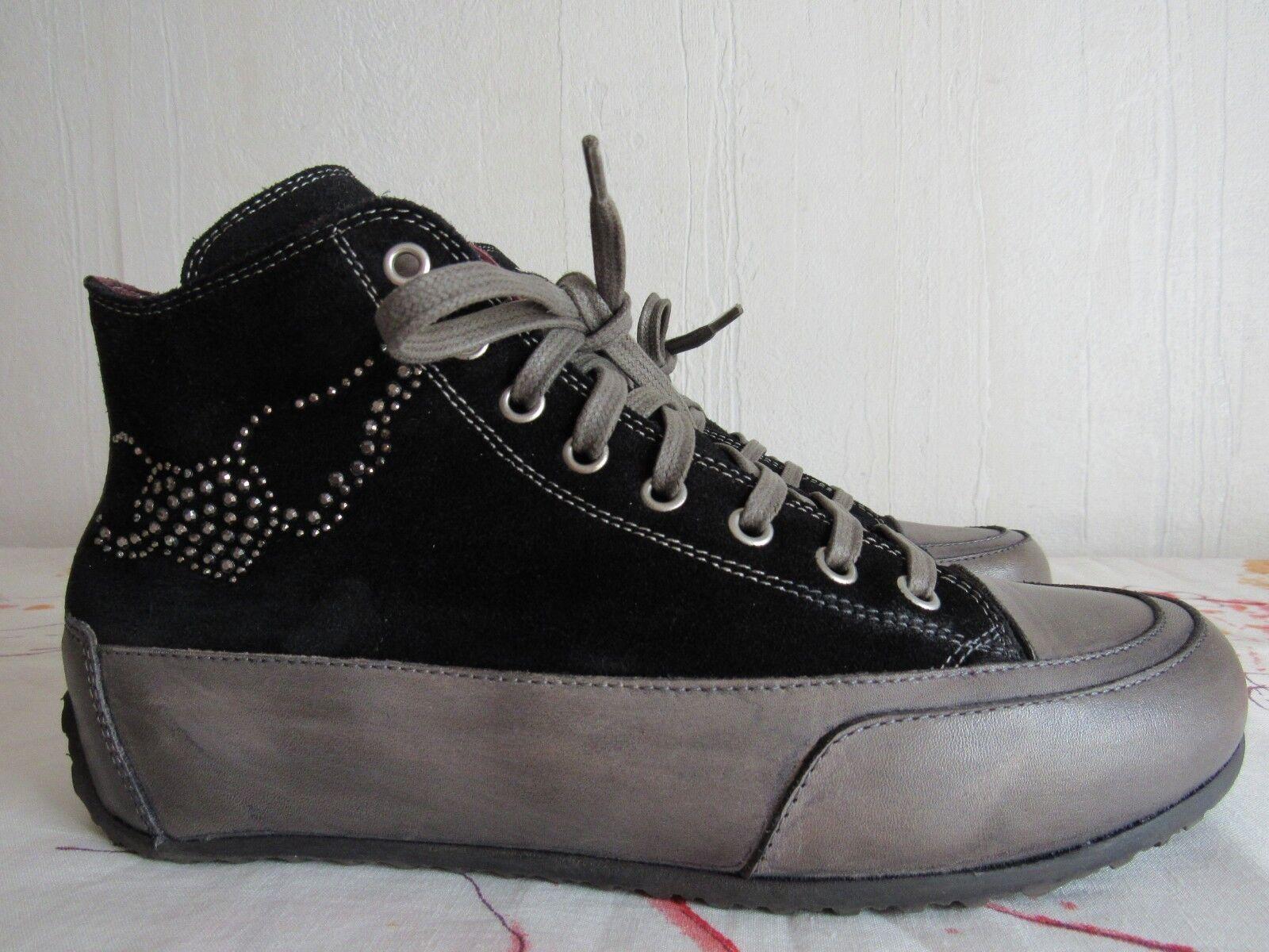 Candice Cooper Sneakers Stifeletten  Gr.37 Leder Schwarz / / / Grau c0ce0d