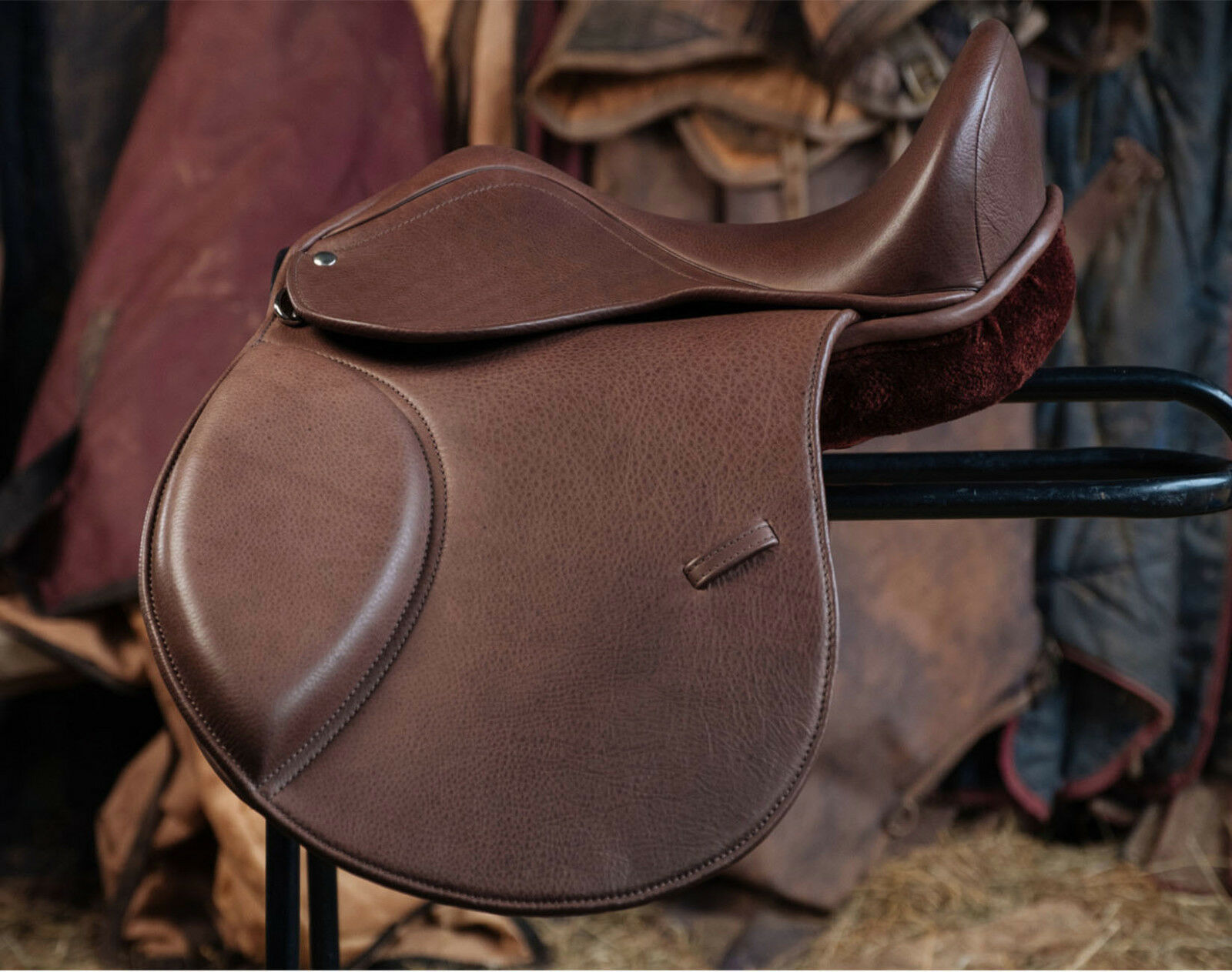 Braun Premium Leder treeless pony fit saddle Easytrek Classic multi fit pony 15