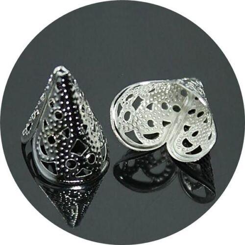 Eo0041-52 Filigrane Perlkappen Perlenkappen Silber