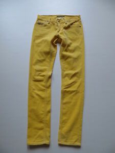 Ralph-Lauren-Skinny-Cord-Jeans-Hose-2-W-27-L-32-gelb-schmale-Slim-Cordhose