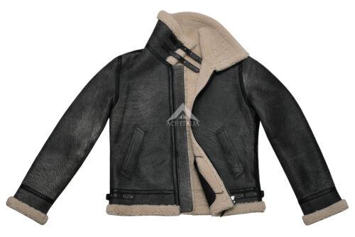 Jacket Genuine Sheepskin Grey Fur 100 Vintage Men's Jungle Shearling Effect B3 HqRSIS