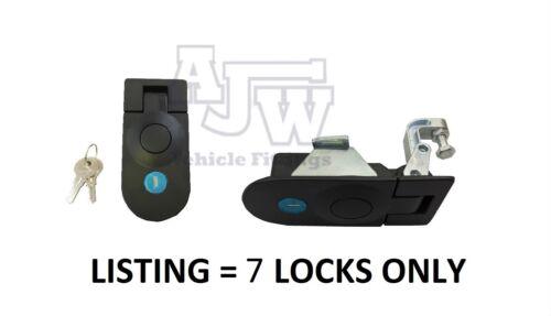 7 X Large Compression Latch / Lock Black Locking C5 Horsebox, Locker, Trailer