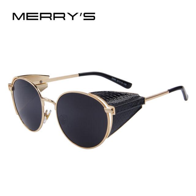MERRY'S New Women Retro Steampunk Sunglasses Brand Designer Gothic Sun Glasses