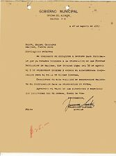 VINTAGE LETTER / GOBIERNO MUNICIPAL DE SALINAS /  PUERTO RICO / 1947