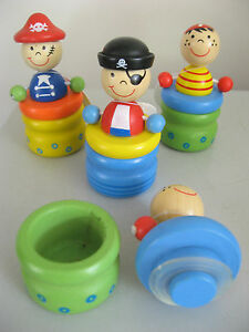 WOODEN-BABY-TOOTH-JAR-NOVELTY-TINY-PIRATE-TRINKET-BOX-amp-LID-WITH-SEAL