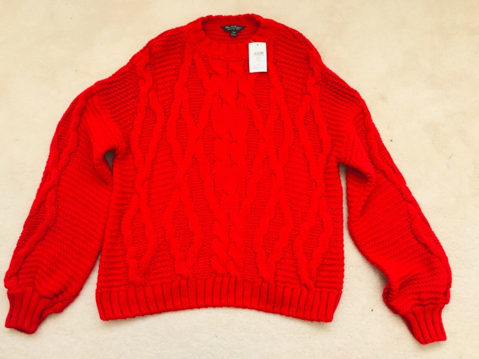BNWT Woman Red Cable Chunky Jumper Size by Miss Selfridge