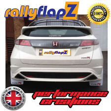 rallyflapZ HONDA CIVIC TYPE R FN2 (2007-2010) Mud Flaps White Logo BIG 3mm PVC