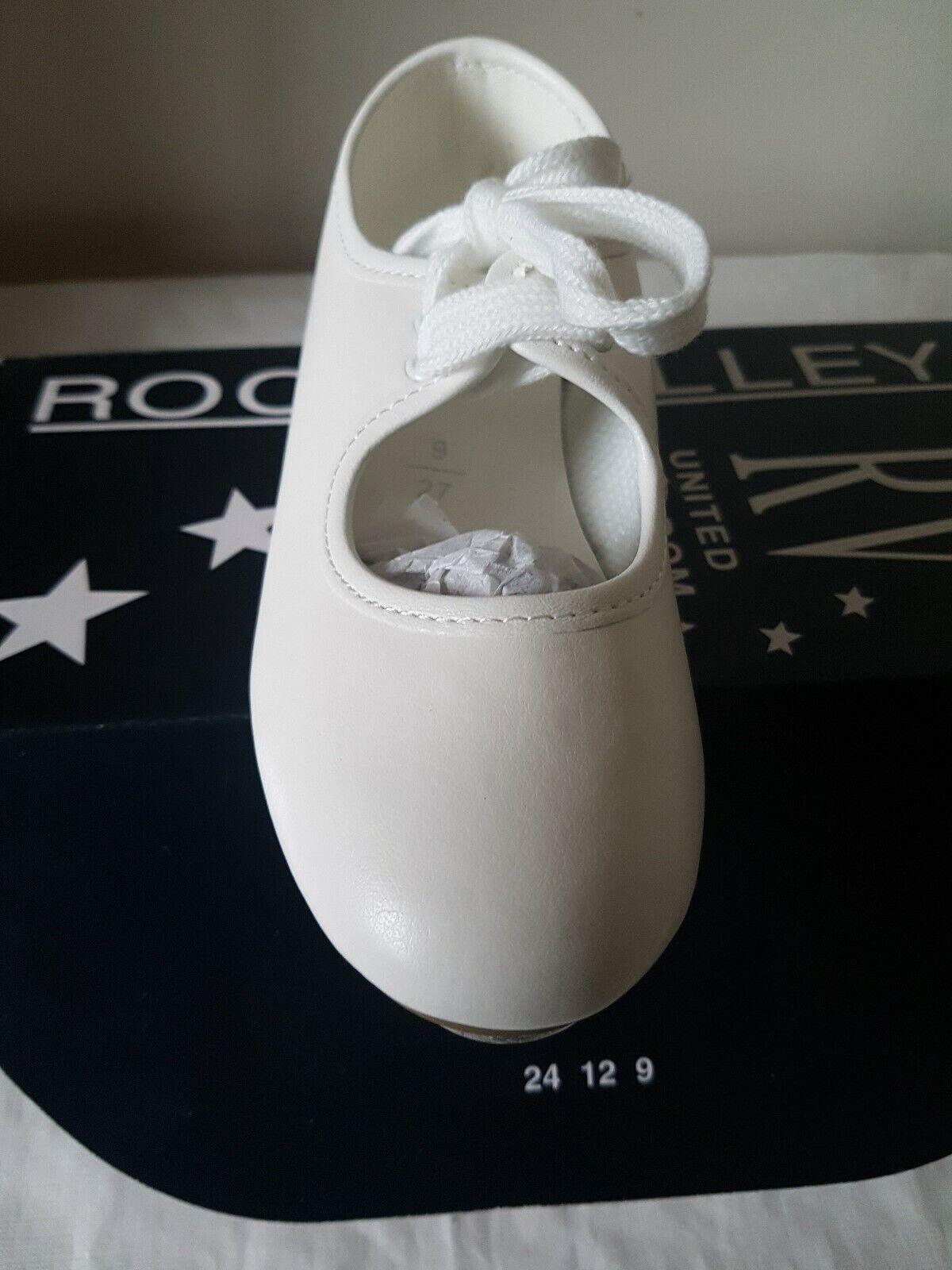 ROCH VALLEY White Low Heel Shoe Dancing Shoes Size UK 9 Junior