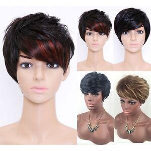 Mode-Femmes-Boucle-Court-Noir-Blond-perruques-un-chapeau-libre-de-perruque-Neuf