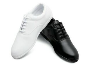 new white black marching band shoes