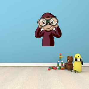 Curious George Cartoon Kids Room Wall Garage Decor Sticker ...