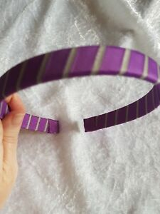 Capable Handmade Boutique School Hairband Alice Band Stripe Girls' Accessories purple/grey Kids' Clothing, Shoes & Accs