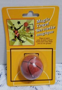 SPORT-THEMED-MAGIC-TERRY-TOWEL-WASHCLOTH-BASKETBALL-Birthday-Easter-fillers