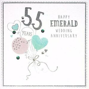 Image Is Loading Happy Emerald Wedding Anniversary  Years Beautiful Th