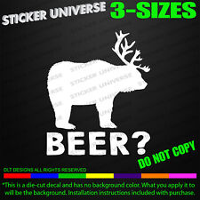 Beer Bear and Deer Vinyl Decal Sticker # 454