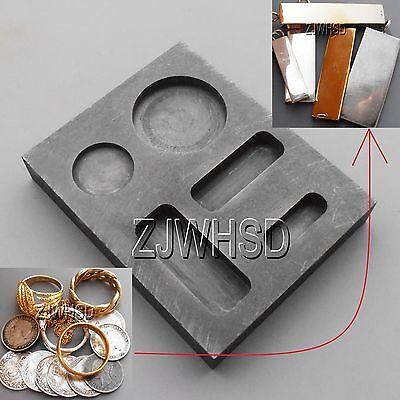 1/4 1/2 1OZ GOLD Graphite Ingot Bar Round Coin Combo Mold Casting Refining Scrap