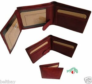 Wholesale Pre-Packs 12, 24, 36 QTY Men's Leather Bifold Wallet Snap Close ID