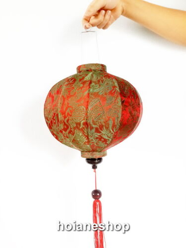 Lot of 4 pcs Vietnamese HOI AN Silk Lanterns WEDDING Party Round shape