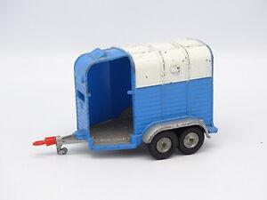 Corgi-Toys-SB-1-43-Remolque-caballos-Beaufort-Double-Horse-Box-Azul