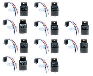 100/% COPPER WIRES 50 PACK 12V DC 30 40 AMP BOSCH STYLE RELAY SOCKET SPDT