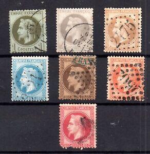 France-1863-70-Napoleon-set-fine-used-to-80c-WS16979